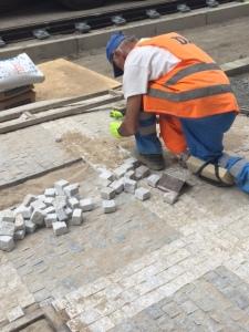 prague mosaic workers